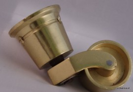 Extra Large Cup Castor,  48 mm Chrome or Brass
