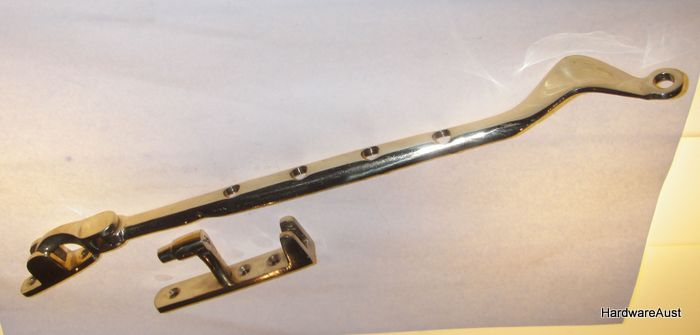 Polished Brass Quot Delf Quot Casement Window Stay And Fastener